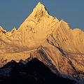 神女峰の朝焼け