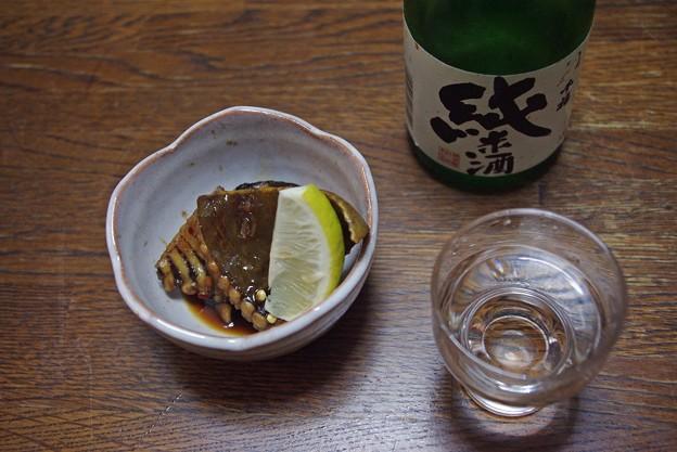 IMGP3317呉市、千福純米、赤エイの煮付け