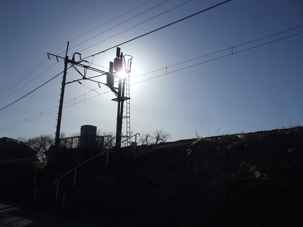 柵なし、事故なし、日光線