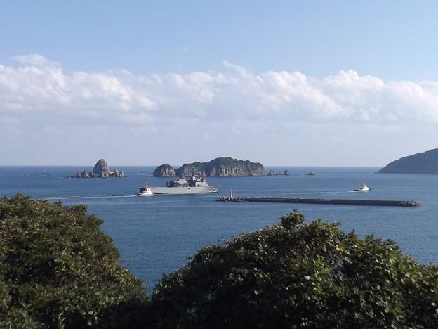 日南の海と掃海母艦「うらが」