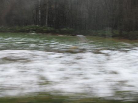 10月29日丸瀬布を過ぎたら雪