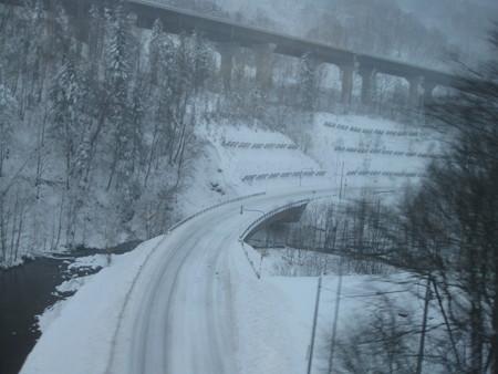 高速道の積雪状況