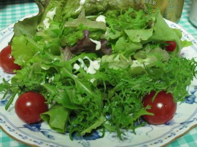 グリーンサラダ&タルタルソース