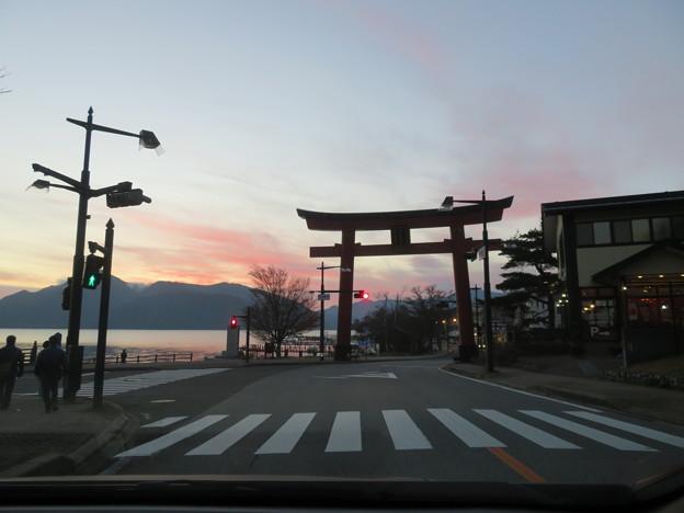 中禅寺湖畔(栃木県)二荒山神社鳥居
