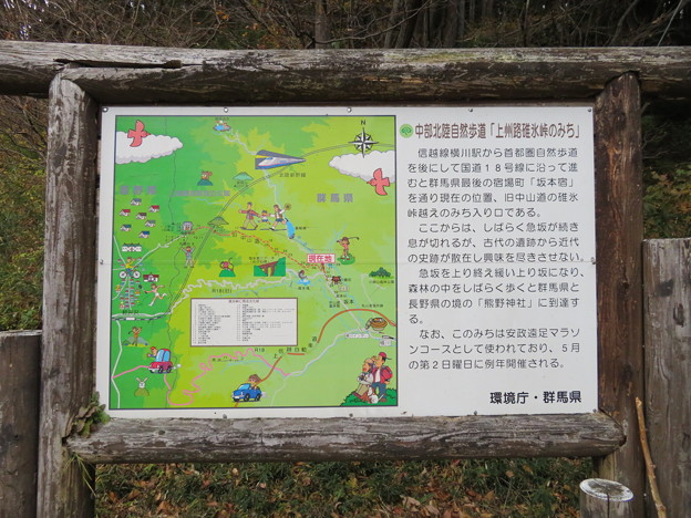 旧中仙道(愛宕山城。安中市松井田町)