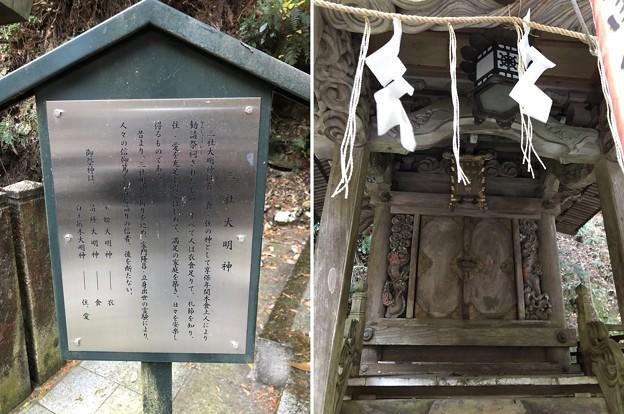 狸谷山不動院(左京区)三社大明神