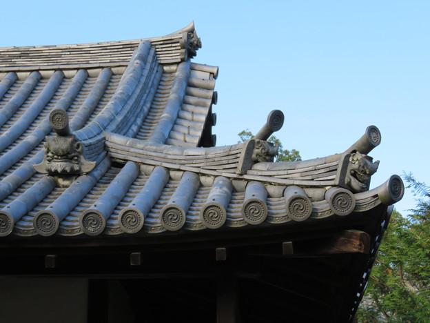 写真: 朝日山平等院(宇治市)不動堂鬼瓦