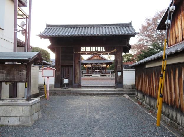 篠津神社(大津市)移築 北大手門