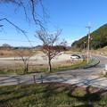 安土城(近江八幡市)無料駐車場より昔駐車場眺望
