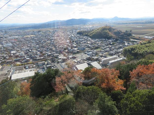 八幡山城(近江八幡市)八幡山ロープウェー