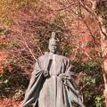 八幡山城屋敷(秀次館。近江八幡市営 八幡公園)豊臣秀次像