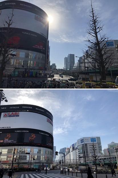 新宿大ガード東交差点(新宿区新宿)