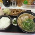 写真: 天芯らーめん 生姜焼定食セット