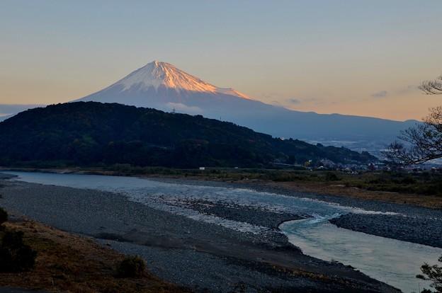 富士川と富士山