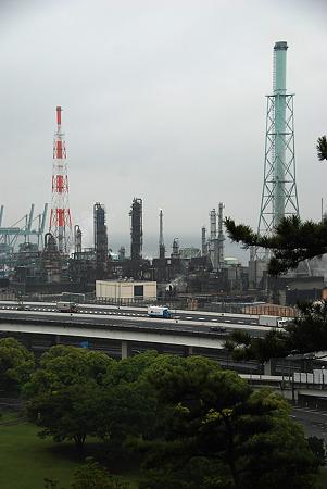 松風閣から見える工業地帯
