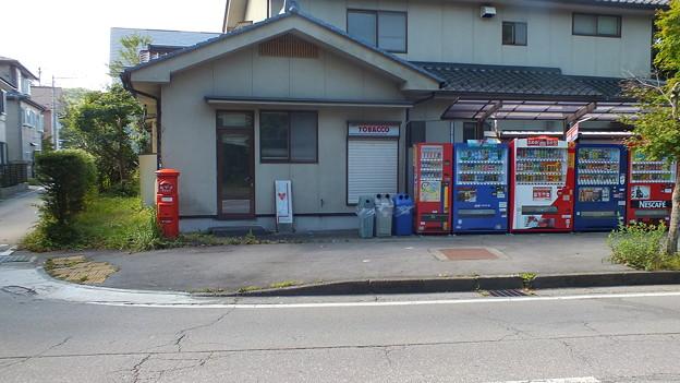 軽井沢タバコ屋前丸ポスト3
