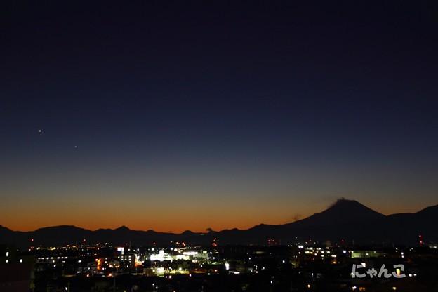写真: ~金星と水星のある夕暮れ時~