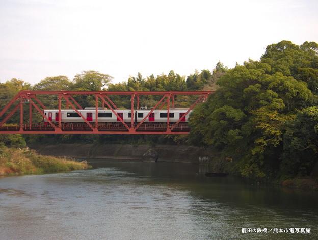 龍田の鉄橋。