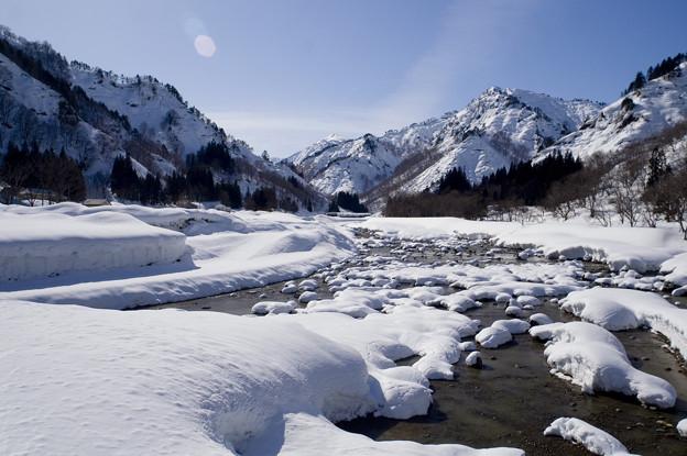雪の川と浅草岳