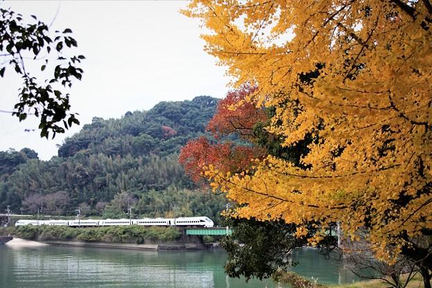 紅葉と橋りょう