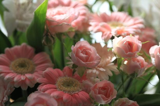 花束をもらいました。 絵画化(1)
