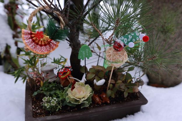 お正月の箱庭
