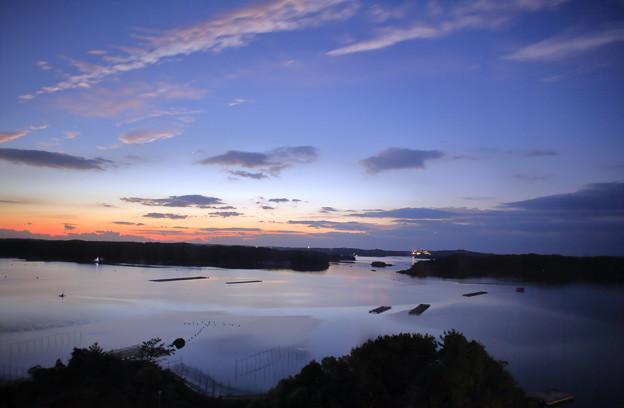 賢島 日の出前 真珠の海