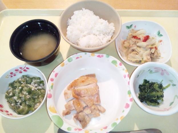 9月20日夕食(鶏肉の塩麹焼き) #病院食