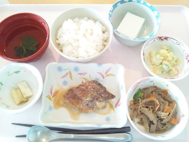9月19日昼食(めばるの味噌煮) #病院食