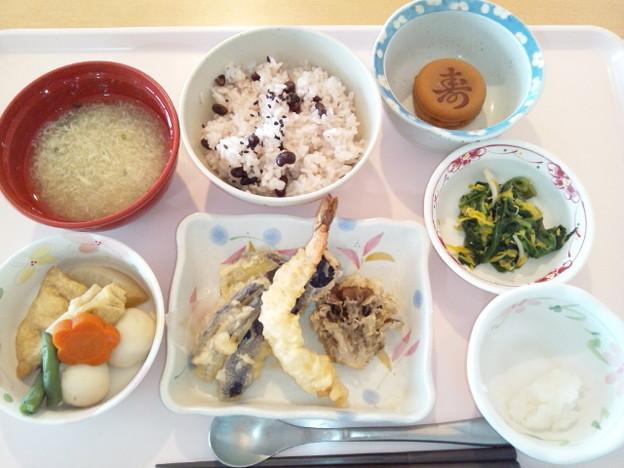 9月20日昼食(天ぷら・敬老の日行事食) #病院食