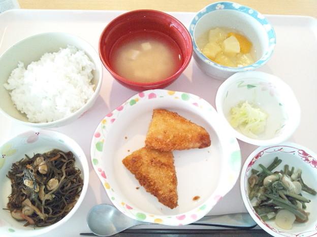 11月19日昼食(白身魚フライ) #病院食