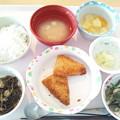 写真: 11月19日昼食(白身魚フライ) #病院食