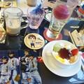 Photos: 増子先輩のプリンと伊佐敷先...