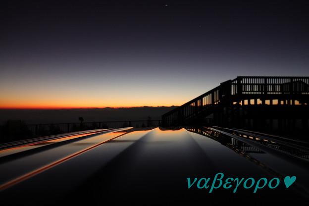 富士山からの夕景