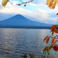 写真: 河口湖の秋