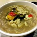 写真: 【昨日の夜飯】岡山市北区下中野の、ミスタードーナツ 下中野ショップ きのこ味わう白湯麺 572円。 多分鶏の白湯なんだけど(笑)、きのこが香り・味と共に主張しています