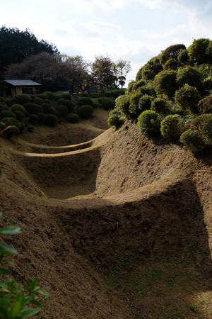 17西の丸の畝堀