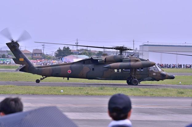木更津へ帰投へ UH-60JAブラックホーク・・
