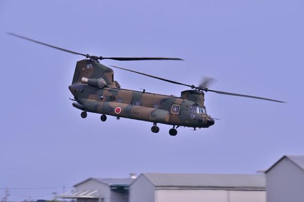 木更津へ帰投へ CH-47JAチヌーク