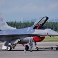 三沢のデモストレーションチームのF-16この日は帰投せず(^_^;)
