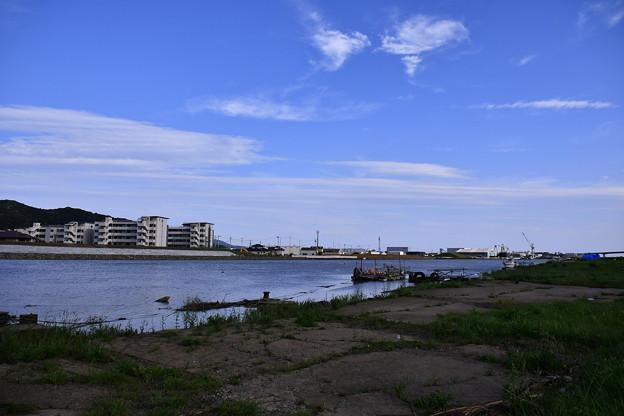 撮って出し。。復興中の石巻。。旧北上川周辺は。。8月26日