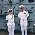 ミサイル駆逐艦ベンフォールドの偉い海軍さんたち