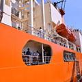 オレンジな艦船。。砕氷艦しらせへ乗り込む 20170805