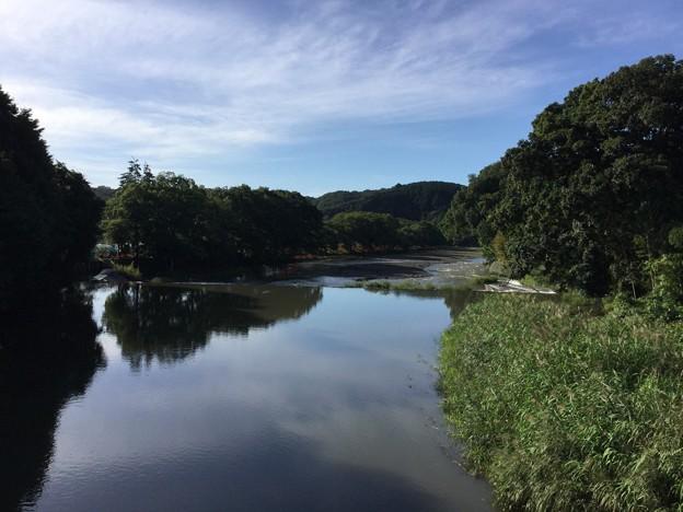 写真: 撮って出し。。台風一過の晴天 高麗川 水位増し 9月18日