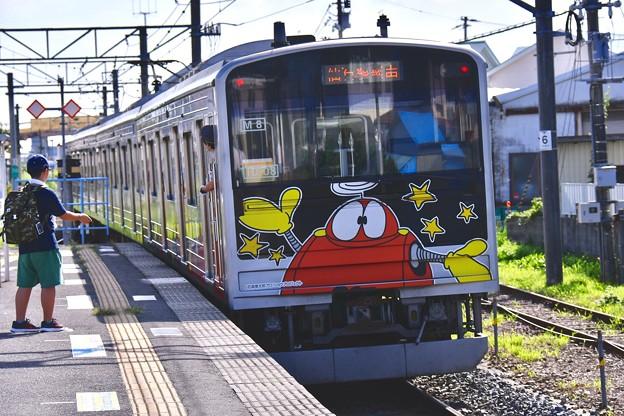 仙石線の205系。。漫画の国石巻のキャタクター電車 20170826