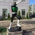 石巻の町には。。漫画ヒーロー 仮面ライダー  20170826