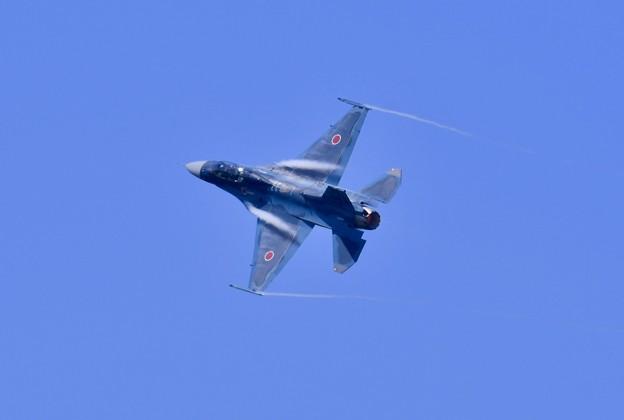 松島基地復興航空祭。。低速飛行から旋回第24飛行隊F-2B