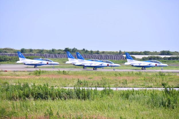 松島基地復興航空祭。。2回目の展示飛行 ブルーインパルス