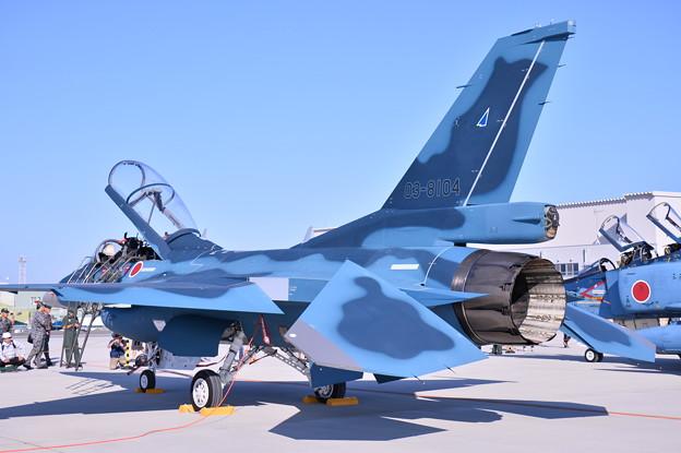 松島基地復興航空祭。。青い空 青い機体 第24飛行隊F-2B(2)