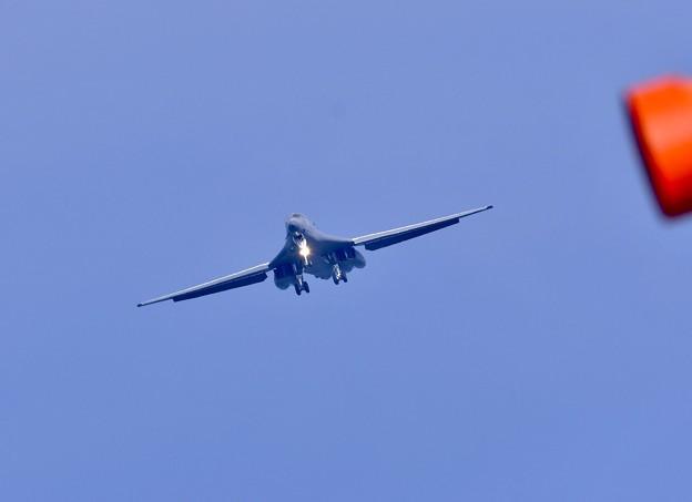 三沢基地へアプローチ。。B-1Bランサー戦略爆撃機 20170909